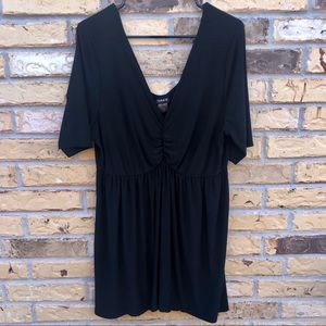 Torrid Black Baby Doll Blouse